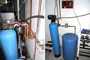 A Typical Water Softener System Installed At Home